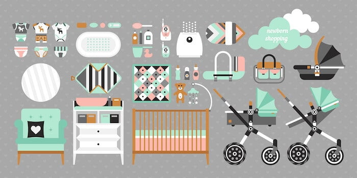 1dd818764 The plan purchases for a newborn. Baby buy set. Cribs, baby stroller, Your  ...