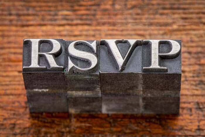 How to RSVP Whether You're Attending or Not