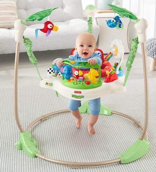 Infant jumper with 360 degrees of play from fisher-price