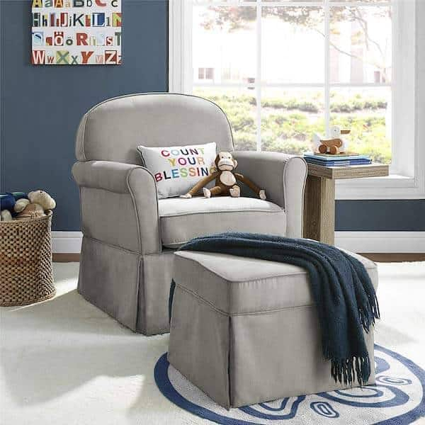 Nursery glider for bonding, feeding and soothing
