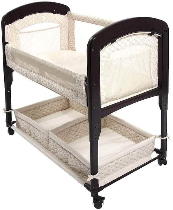 Bassinet with convenient storage underneath