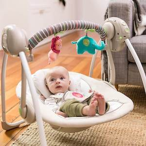 Safe baby swing for the baby
