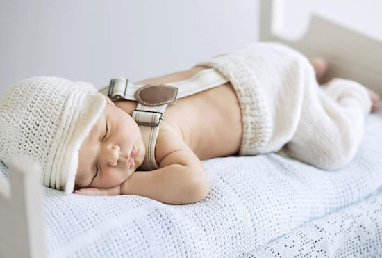 Portrait of a cute sleeping baby