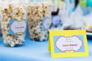baby shower and popcorn