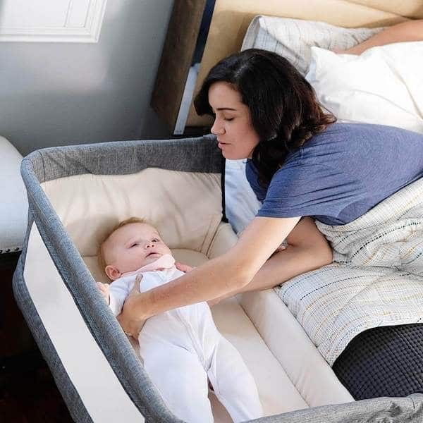 Portable Crib with 7 Height Positions