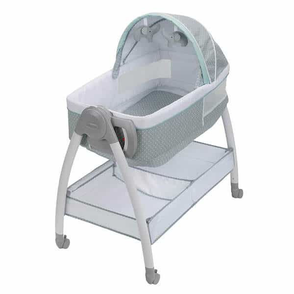Bassinet with 30 lbs storage